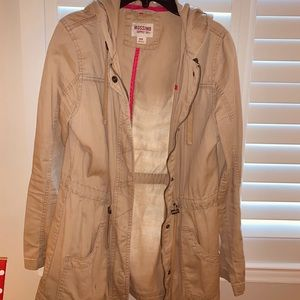 Fall Khaki Zip up jacket
